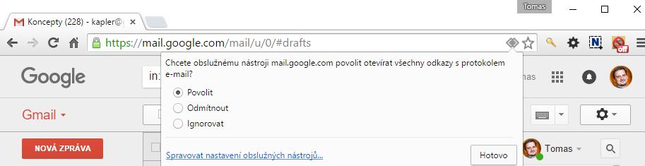 Otevírejte např. mailto odkazy v Gmailu a webcal v Kalendáři