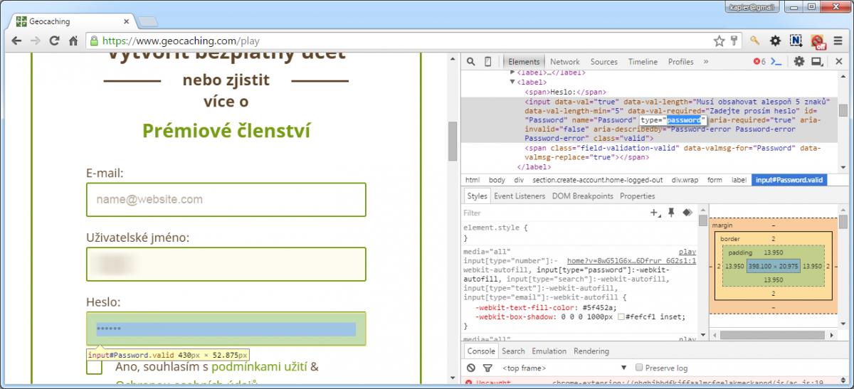 Jak zjistit zapamatované heslo v prohlížeči