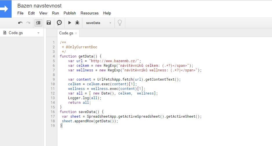 Jednoduchý automatický web scraper pro Google Sheets a Apps Script